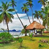 热带假期 库存图片