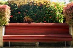 热带公园长椅 免版税库存照片