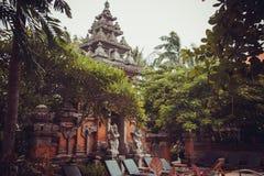 热带别墅在巴厘岛 免版税库存图片
