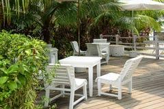 热带咖啡馆 图库摄影
