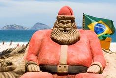 热带圣诞节的样式 免版税库存照片