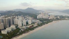 热带城市天线 影视素材