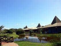 热带复杂的旅馆 免版税图库摄影