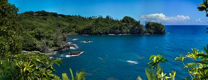 热带夏威夷海湾 免版税库存照片