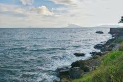 热带天堂海滩在印度尼西亚 免版税库存照片