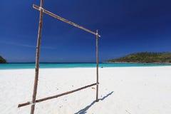 热带天堂盐水湖海滩 免版税图库摄影