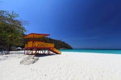 热带天堂盐水湖海滩 库存照片