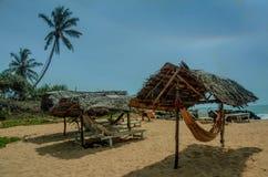 热带天堂美丽的沙滩和海 库存照片