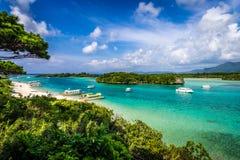 热带天堂Kabira海滩  库存图片