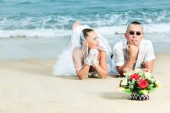 热带婚礼 免版税图库摄影