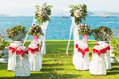 热带婚礼 免版税库存图片