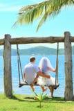 热带婚礼 库存照片