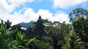 热带密林和山脉在巴厘岛在印度尼西亚 库存图片