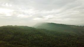热带小山空中英尺长度在印度尼西亚 股票录像