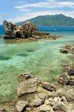 热带岸 免版税库存照片