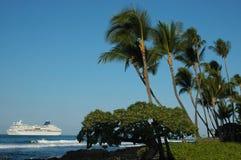 热带巡航夏威夷的船 图库摄影