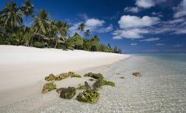热带库克群岛的天堂 库存照片