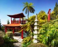 热带庭院,丰沙尔,马德拉岛,葡萄牙 库存图片