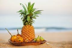 热带异乎寻常的果子 图库摄影
