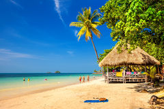 热带惊人的海滩 图库摄影
