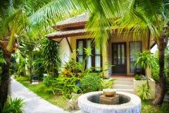 热带房子 免版税库存图片
