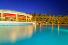 热带手段三角落晴朗的海滩在Hurghada 图库摄影