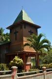 热带教会在Montezuma,哥斯达黎加 库存照片