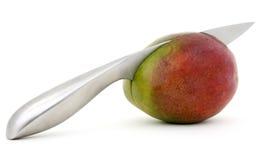 热带新鲜水果芒果红色的沙拉 库存图片