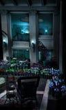 热带旅馆的大厅 免版税库存照片