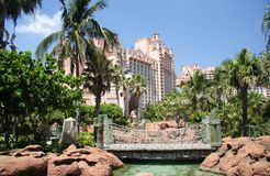 热带旅馆的手段 库存图片