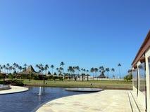 热带旅馆的池 库存照片
