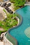 热带无限的池 免版税库存图片
