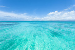 热带日本,冲绳岛的透明的热带海 库存照片