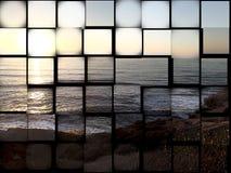 热带日落的日落摘要 库存照片