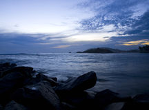 热带日落 图库摄影