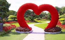 热带春天庭院 免版税库存图片