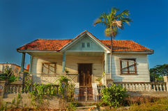 热带木房子 库存照片