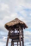 热带棕榈小屋 图库摄影