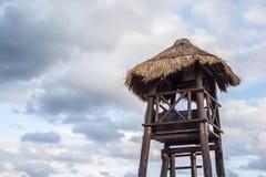 热带棕榈小屋 免版税库存图片