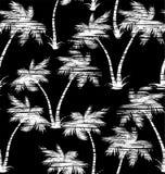 热带棕榈无缝的样式 免版税库存图片