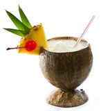 热带椰子饮料 图库摄影