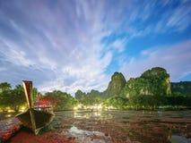 热带横向的晚上 泰国 图库摄影