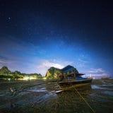 热带横向的晚上 泰国 库存照片