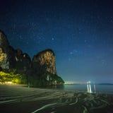 热带横向的晚上 泰国 库存图片
