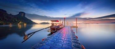 热带横向的晚上 泰国 免版税图库摄影