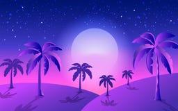 热带横幅满月 皇族释放例证