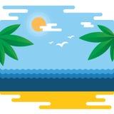热带横幅的夏天 库存图片