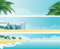 热带横幅 库存例证