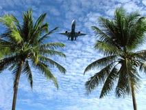 热带气候,休息,飞机 免版税库存照片