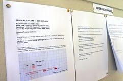 热带气旋警告 免版税库存图片